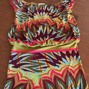 Nicole Miller colorful summer mini dress, sz med